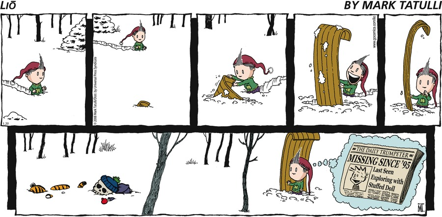 Lio Comic Strip for January 20, 2008