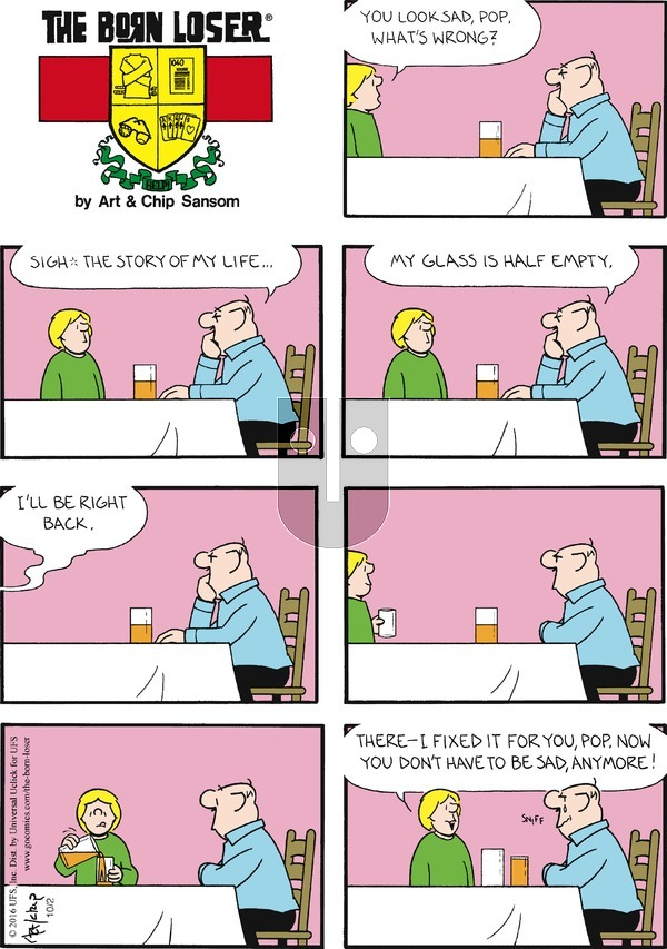 The Born Loser on Sunday October 2, 2016 Comic Strip