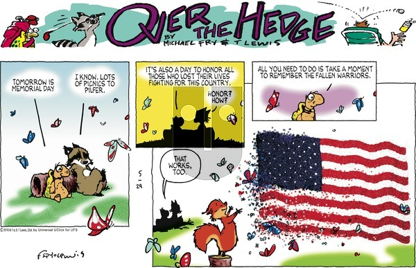 Over the Hedge on Sunday May 29, 2016 Comic Strip