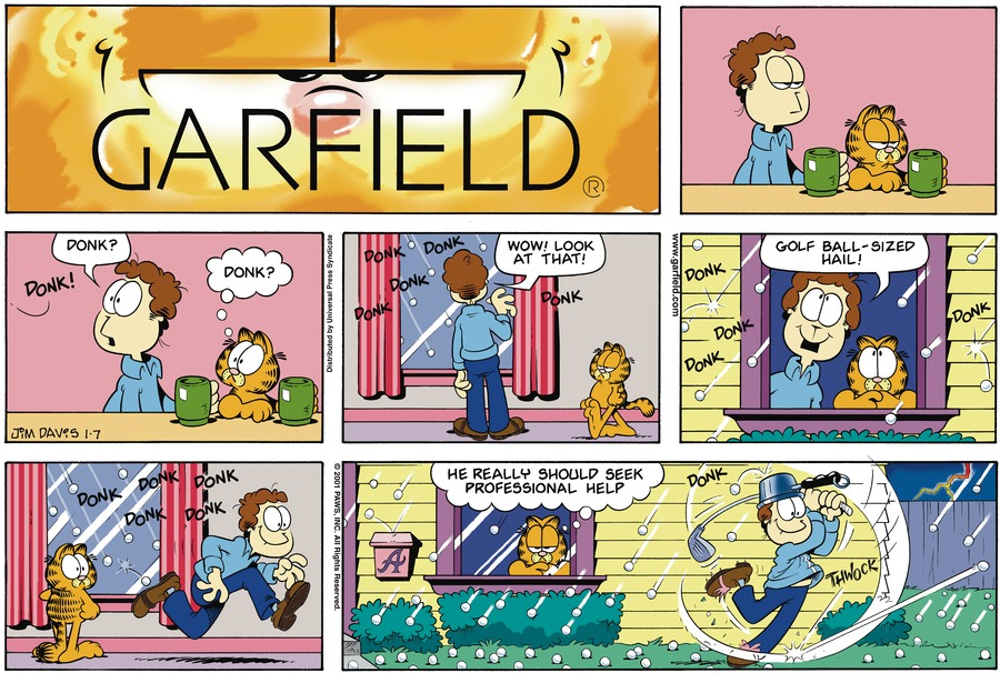 Garfield Comic Strip for January 07, 2001