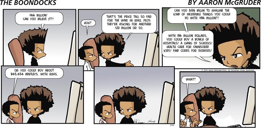 The Boondocks for Jun 20, 2004 Comic Strip