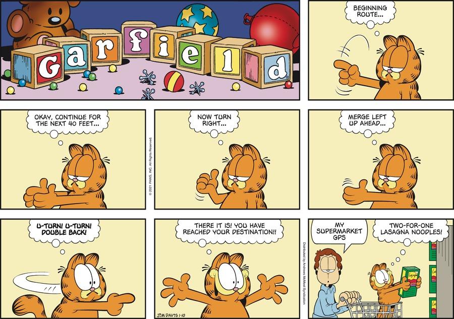 Garfield Comic Strip for January 10, 2021