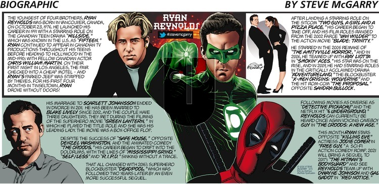 Biographic - Sunday December 6, 2020 Comic Strip