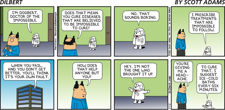Dogbert Is Doctor Of Impossible - Dilbert by Scott Adams