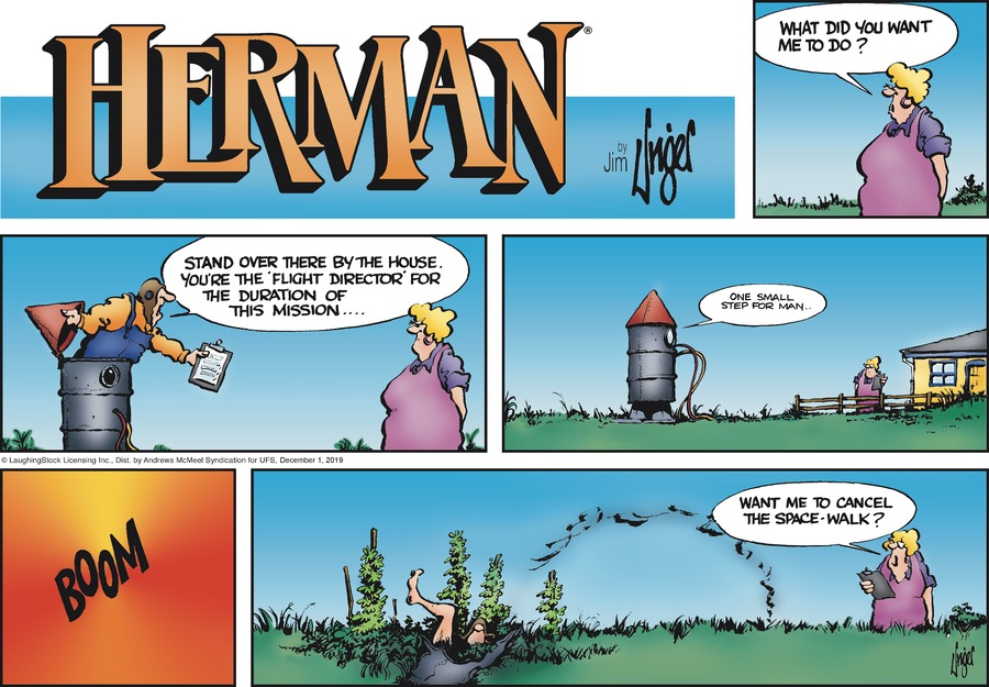 Herman Comic Strip for December 01, 2019