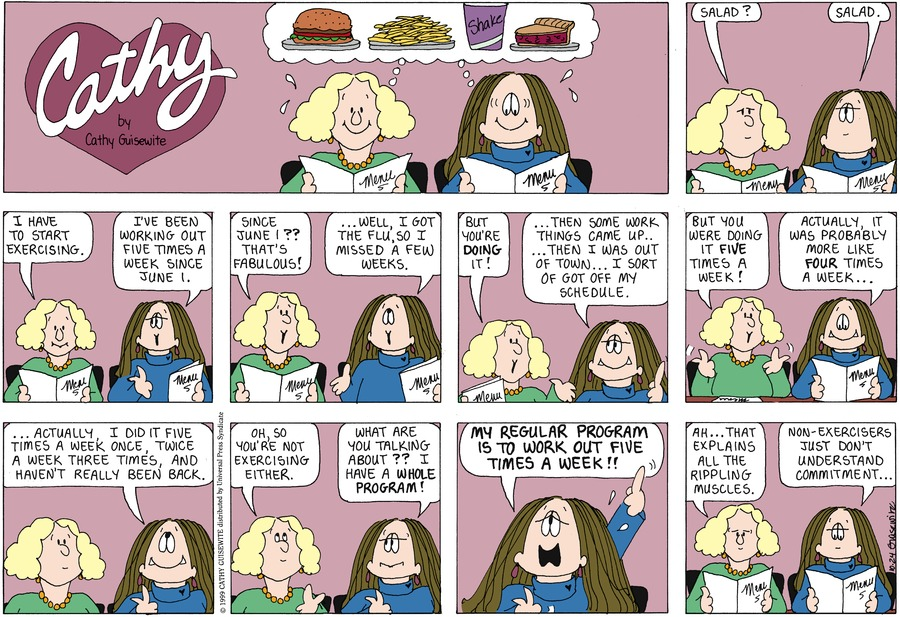 Cathy Classics by Cathy Guisewite on Sun, 24 Oct 2021