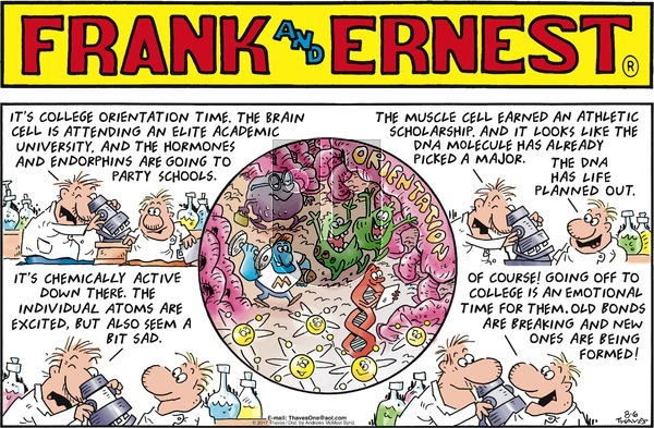 Frank and Ernest on Sunday August 6, 2017 Comic Strip
