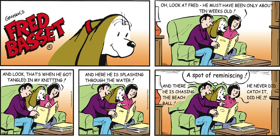 Fred Basset Comic Strip for April 13, 2014