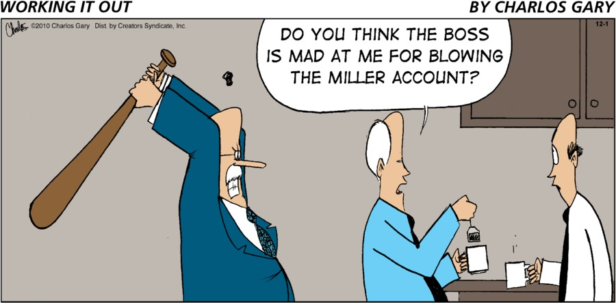 Working It Out Comic Strip for December 01, 2019