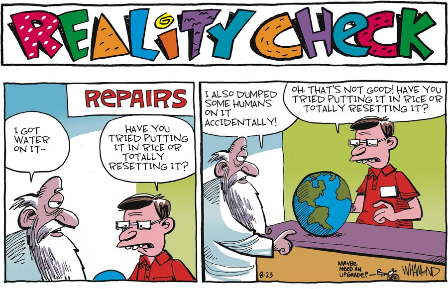 Reality Check Comic Strip for August 23, 2020