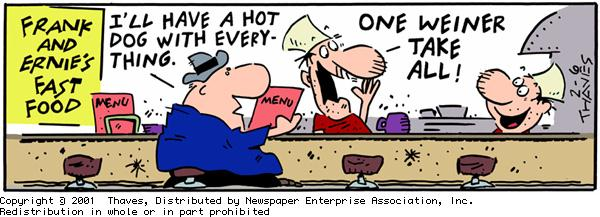 Frank and Ernest for Feb 6, 2001 Comic Strip