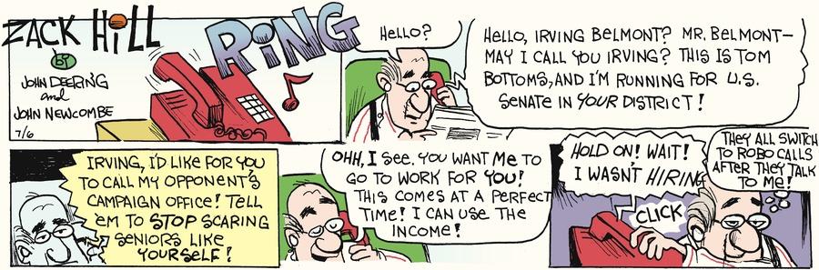 Zack Hill for Jul 6, 2014 Comic Strip