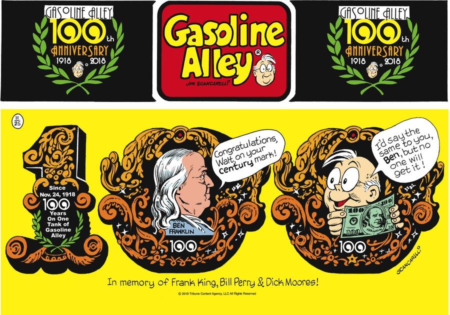 Gasoline Alley Comic Strip for November 25, 2018