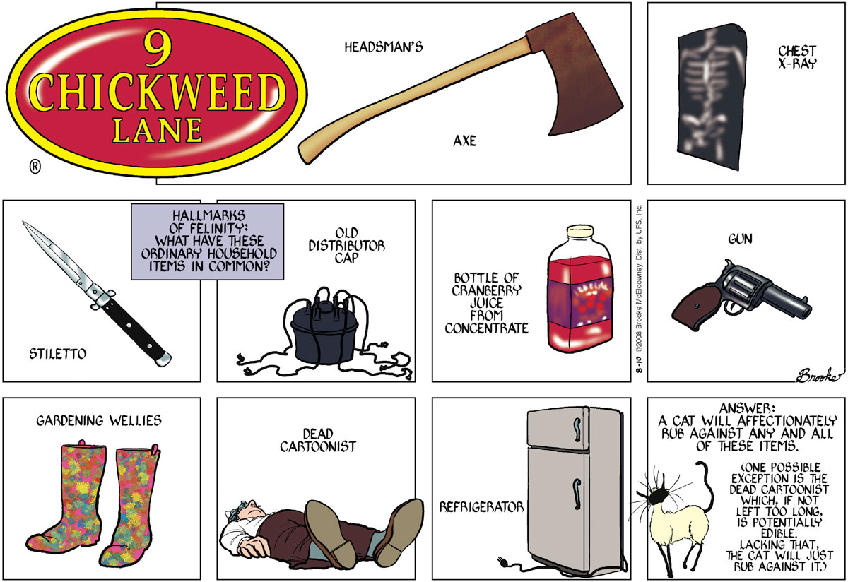 9 Chickweed Lane Comic Strip for August 10, 2008