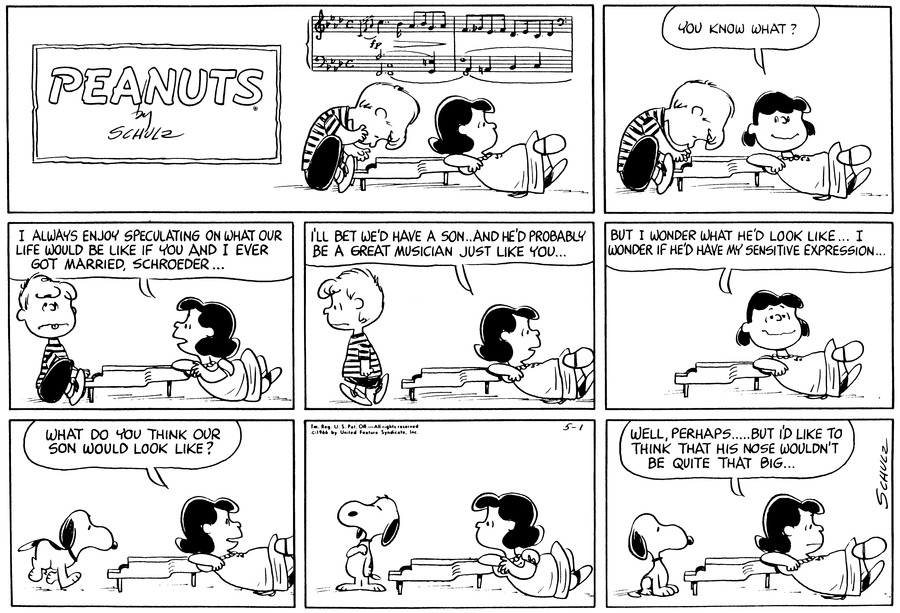 Peanuts Comic Strip for May 01, 1966