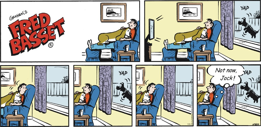 Fred Basset Comic Strip for July 25, 2021