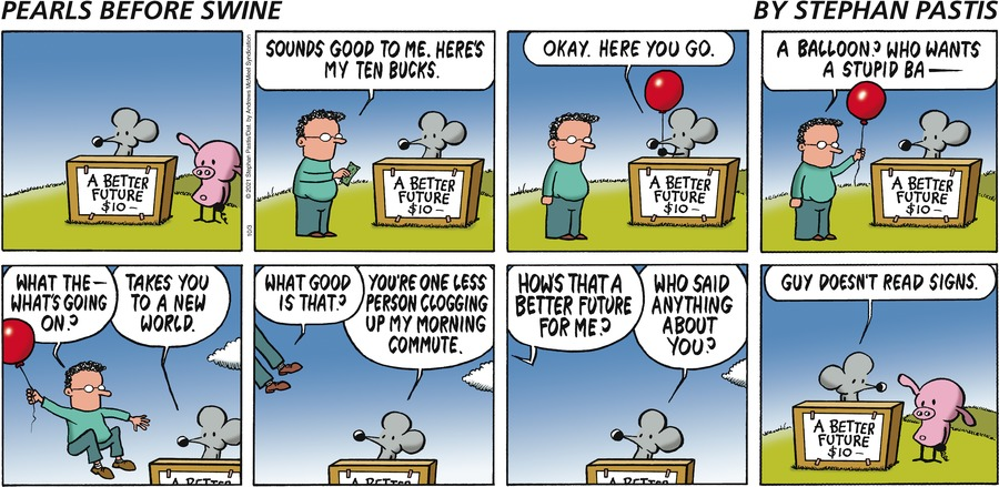 Pearls Before Swine by Stephan Pastis on Sun, 03 Oct 2021