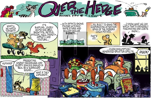Over the Hedge on Sunday September 29, 2019 Comic Strip