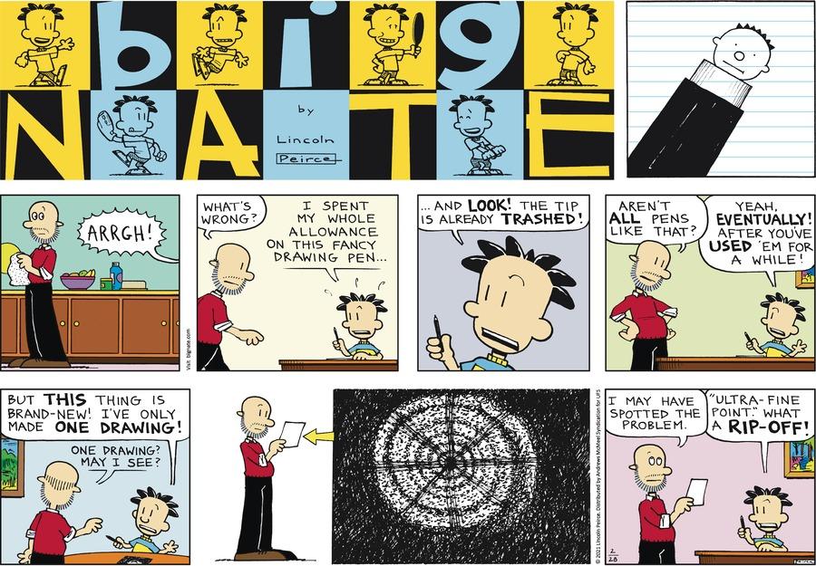 Big Nate Comic Strip for February 28, 2021