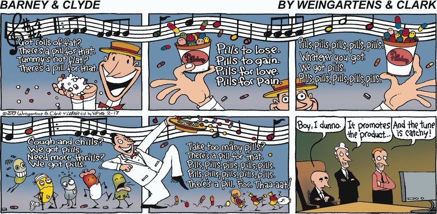 Barney & Clyde Comic Strip for February 17, 2019