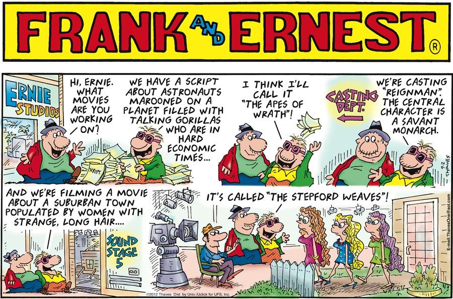 Frank and Ernest Comic Strip for September 02, 2012