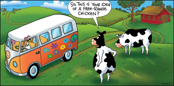 2 Cows and a Chicken for Jan 9, 2012 Comic Strip
