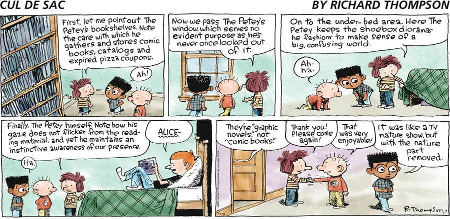 Cul de Sac Comic Strip for November 09, 2014