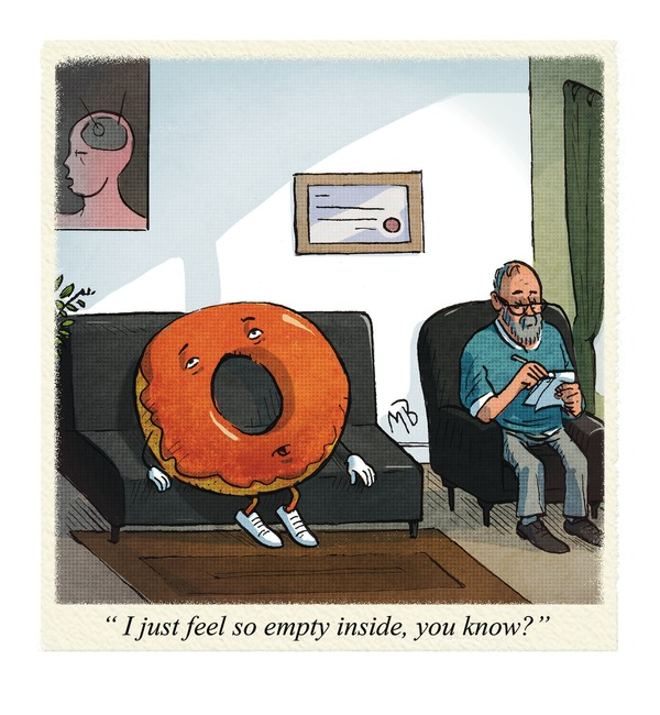 donut at psychiatrist's office