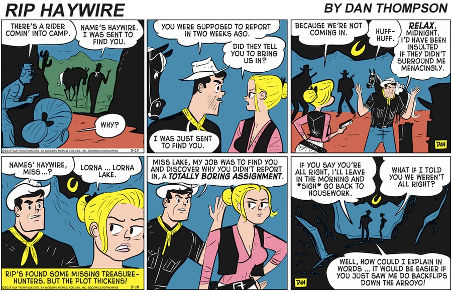 Rip Haywire Comic Strip for May 03, 2020