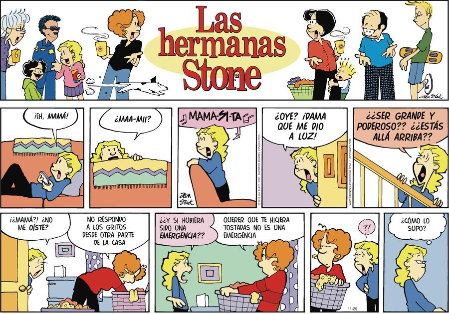 Las Hermanas Stone Comic Strip for November 29, 2020