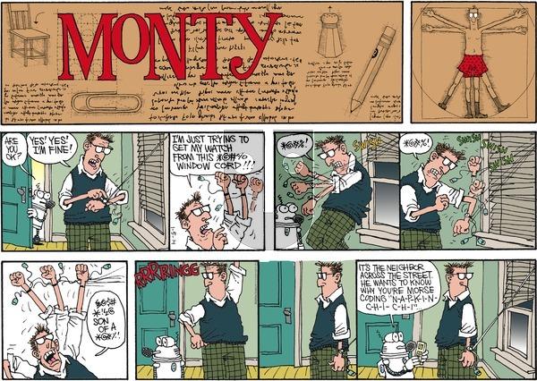 Monty on Sunday January 5, 2014 Comic Strip