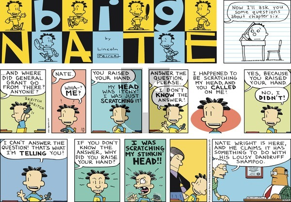 Big Nate on Sunday October 7, 2018 Comic Strip