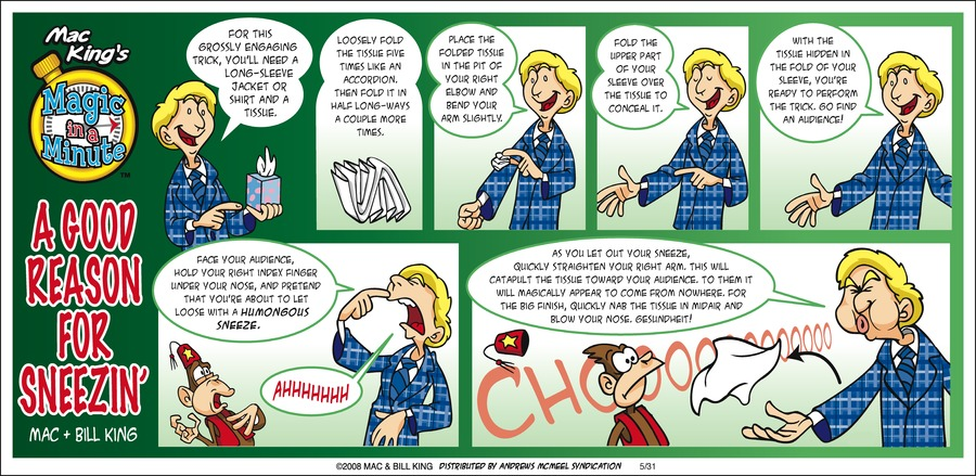 Magic in a Minute Comic Strip for May 31, 2020