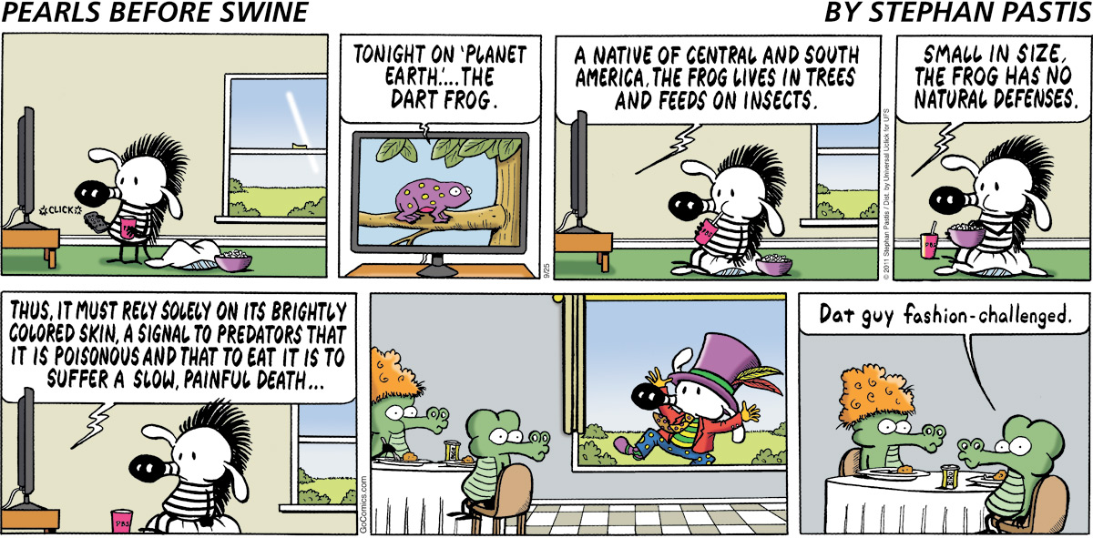 Pearls Before Swine Comic Strip for September 25, 2011