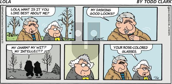 Lola on Sunday November 16, 2014 Comic Strip