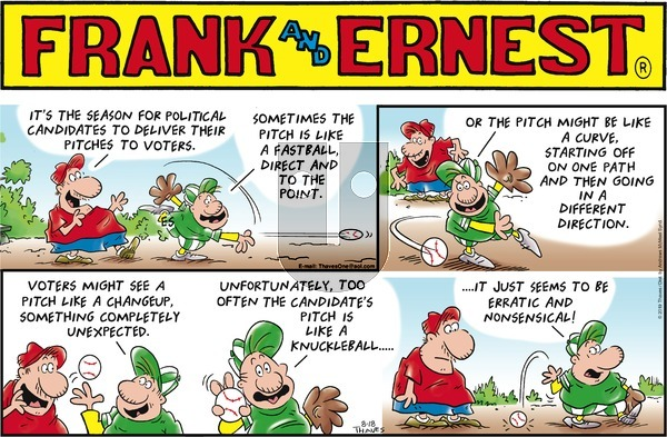 Frank and Ernest on Sunday August 18, 2019 Comic Strip