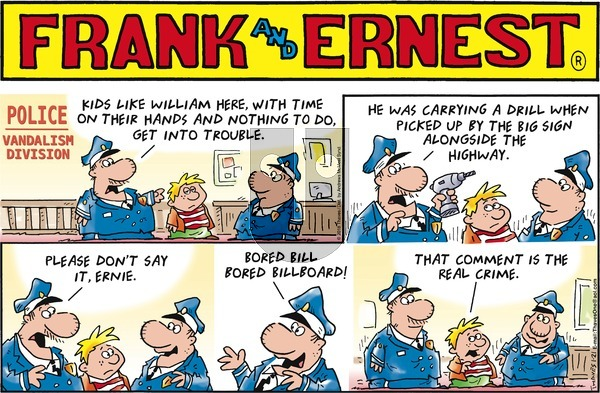 Frank and Ernest on Sunday January 21, 2018 Comic Strip