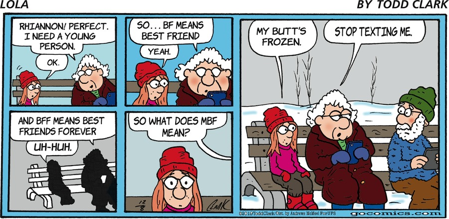 Lola Comic Strip for December 08, 2019