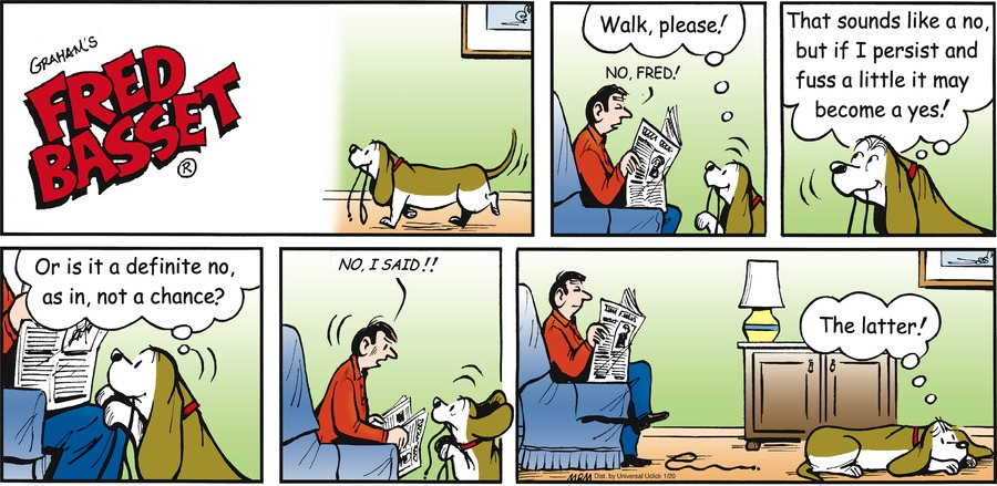 Fred Basset Comic Strip for January 20, 2013