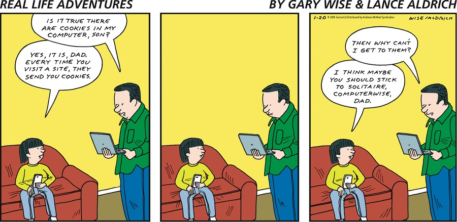 Real Life Adventures Comic Strip for January 20, 2019