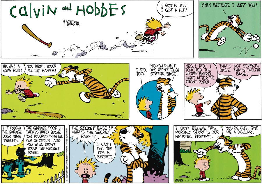 Calvin and Hobbes Comic Strip for May 20, 2018