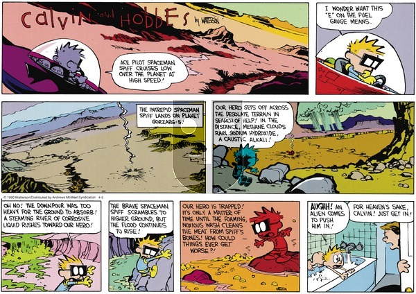 Calvin and Hobbes - Sunday April 5, 2020 Comic Strip
