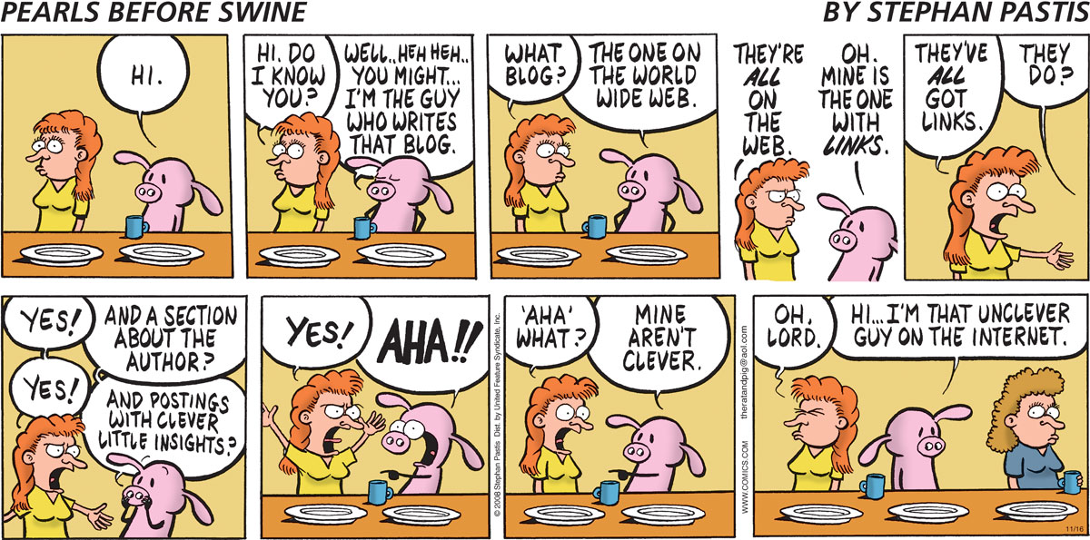 Pearls Before Swine on blogging