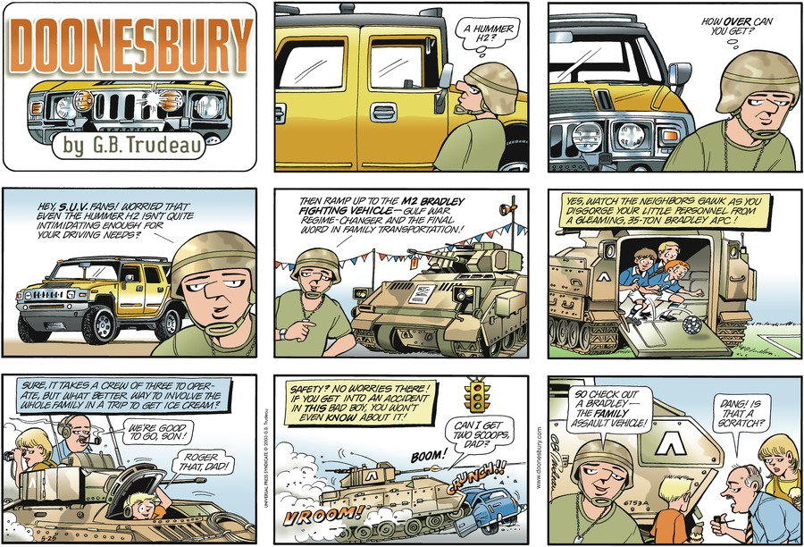 Doonesbury for May 25, 2003 Comic Strip
