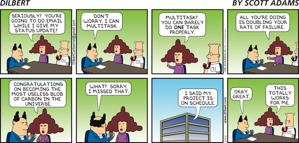 How to Multitask (Dilbert)