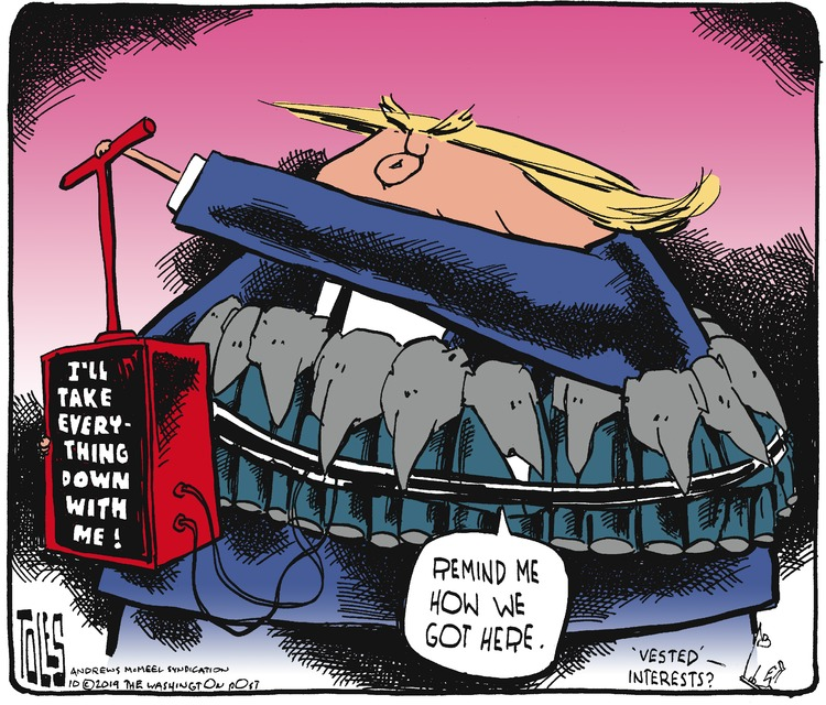 Tom Toles Comic Strip for October 06, 2019