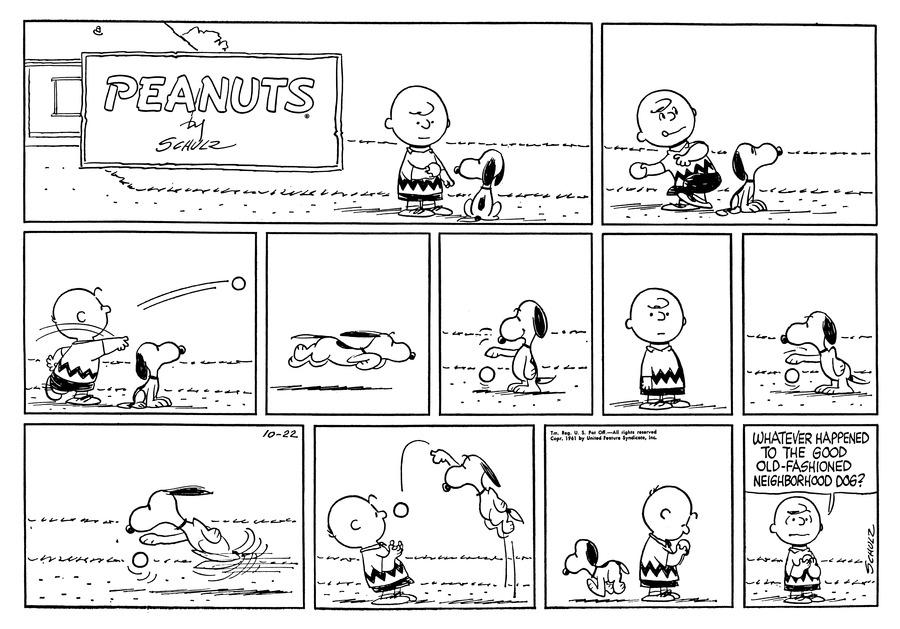 Peanuts Comic Strip for October 22, 1961