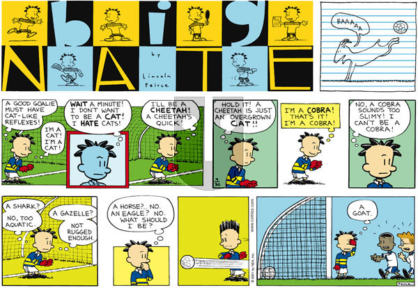 Big Nate - Sunday September 30, 2001 Comic Strip