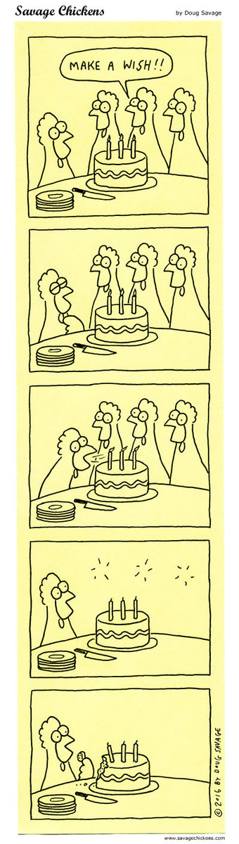 Savage Chickens Comic Strip for March 25, 2020