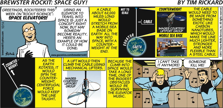 Brewster Rockit for Oct 14, 2012 Comic Strip